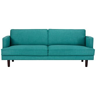 Bliss Teal Fabric Sofa
