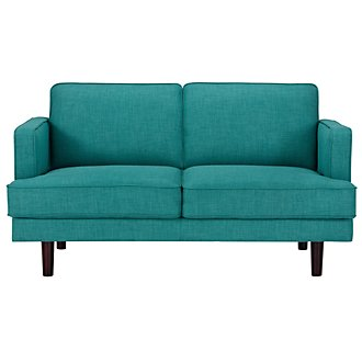 Bliss Teal Fabric Loveseat