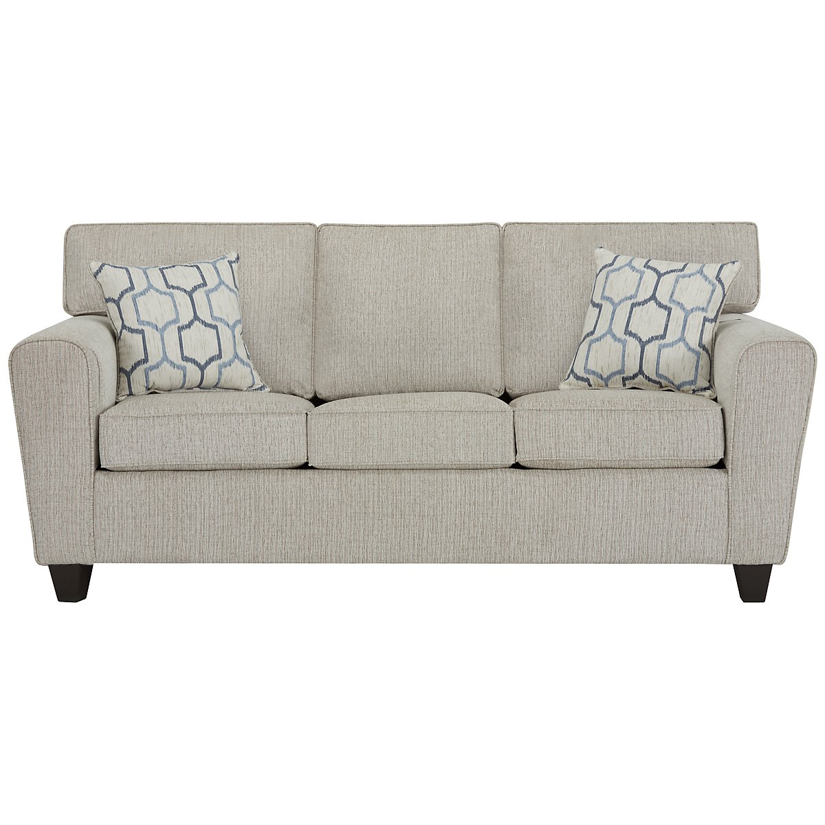 Zoey Light Beige Microfiber Sofa