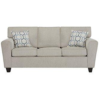 Zoey Light Beige Microfiber Sofa