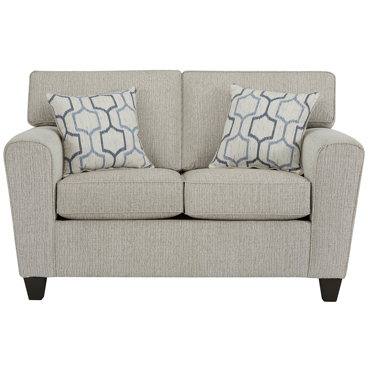 Zoey Light Beige Microfiber Loveseat