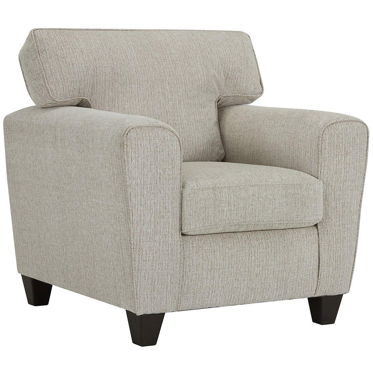 Zoey Light Beige Microfiber Chair
