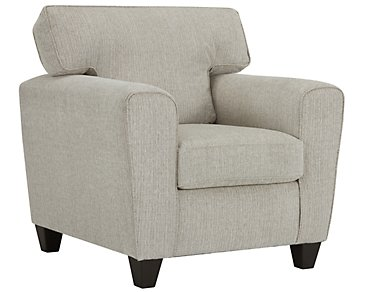 Zoey Light Beige Microfiber Chair
