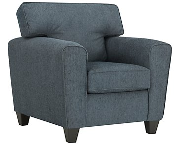 Zoey Dark Blue Microfiber Chair