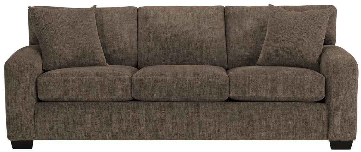 Dark Brown Microfiber Sofa Abson Living Monrovia Sectional