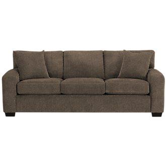 Adam Dark Brown Microfiber Sofa