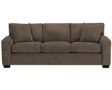 Adam Dark Brown Microfiber Sofa