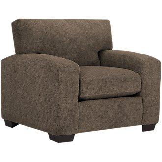 Adam Dark Brown Microfiber Chair