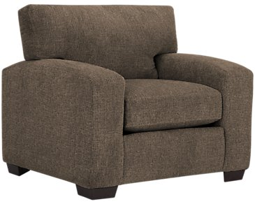 Adam Dark Brown Microfiber Chair