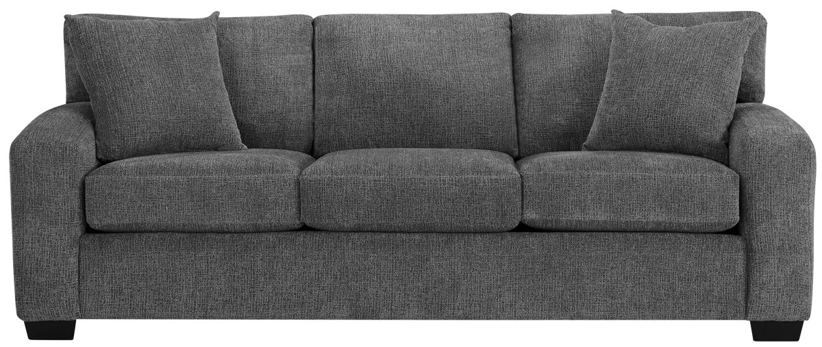City Furniture Adam Dark Gray Microfiber Sofa