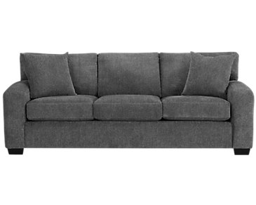 Adam Dark Gray Microfiber Sofa