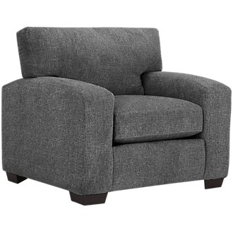 Adam Dark Gray Microfiber Chair