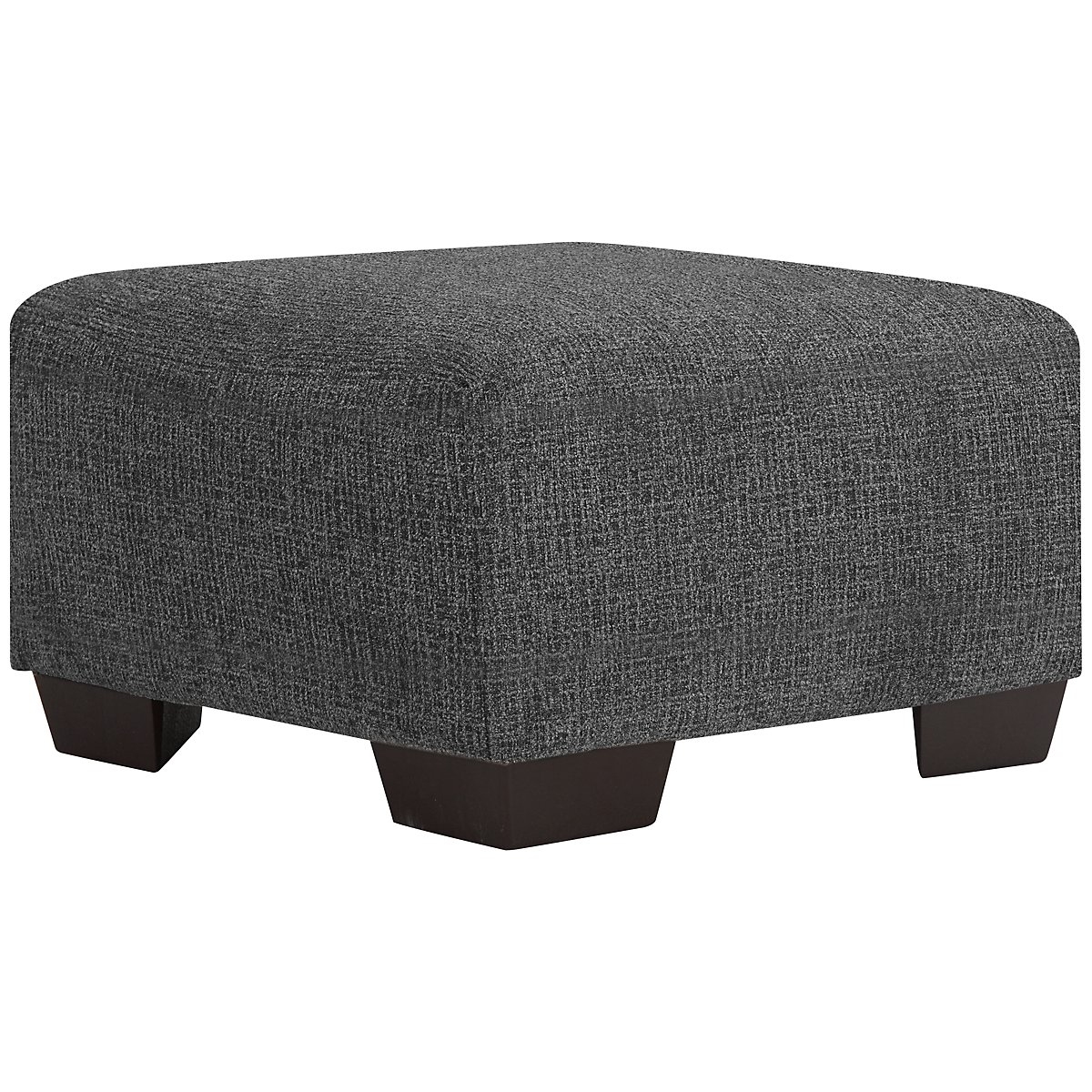 Adam Dark Gray Microfiber Cocktail Ottoman