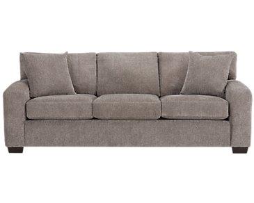 Adam Dark Taupe Microfiber Sofa