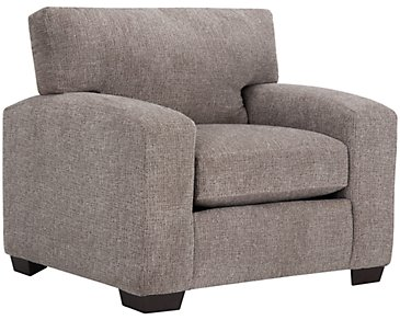 Adam Dark Taupe Microfiber Chair