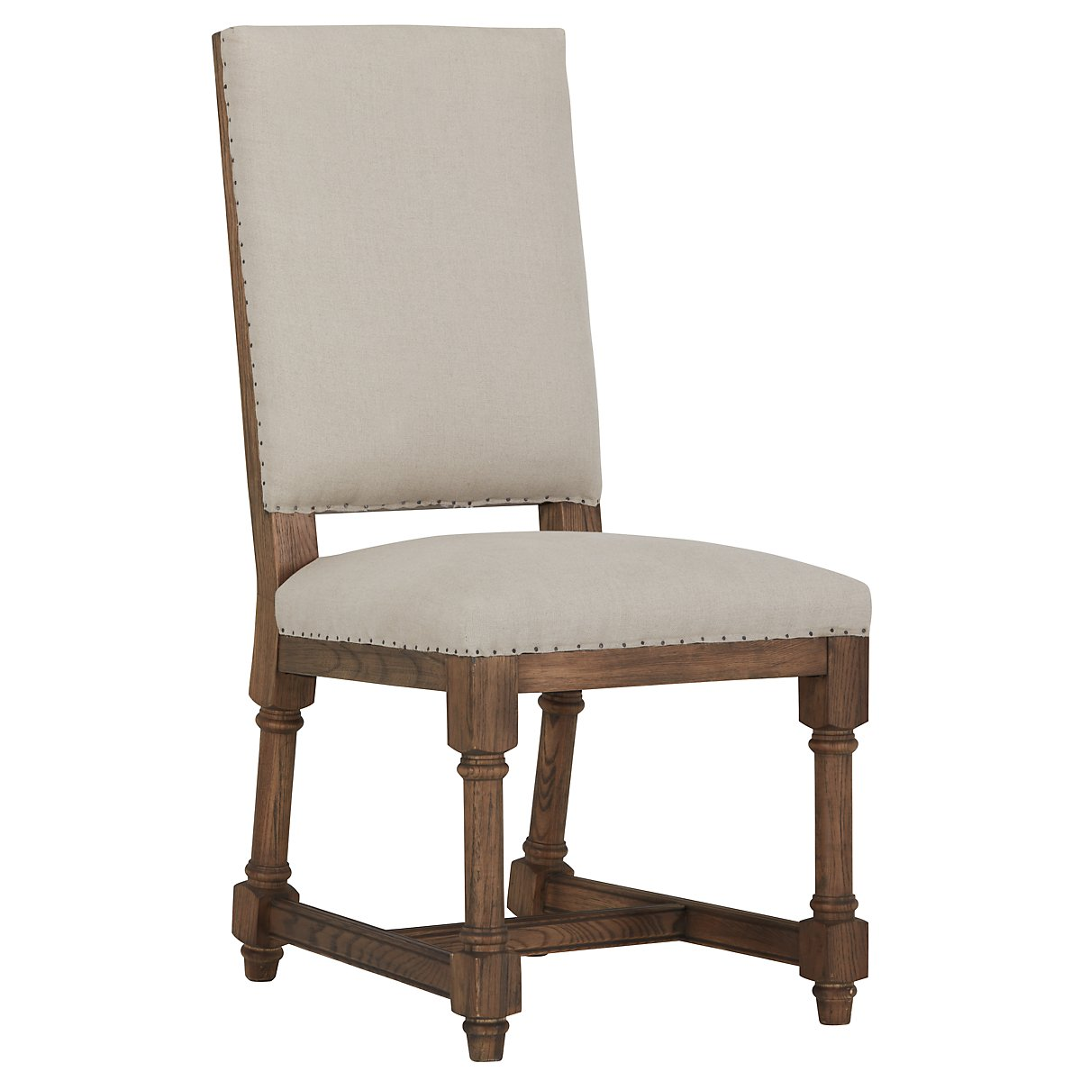 Alister Beige Fabric Upholstered Side Chair
