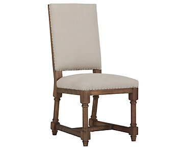Alister Beige Upholstered Side Chair