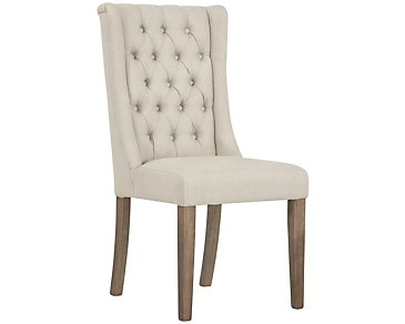 Camilla Beige Upholstered Side Chair