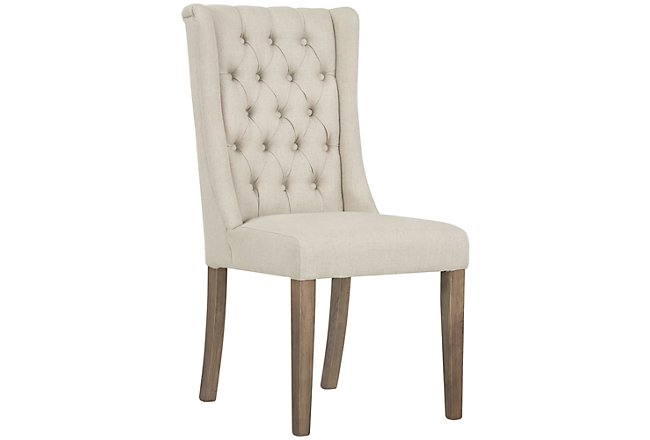 Camilla Beige Fabric Upholstered Side Chair