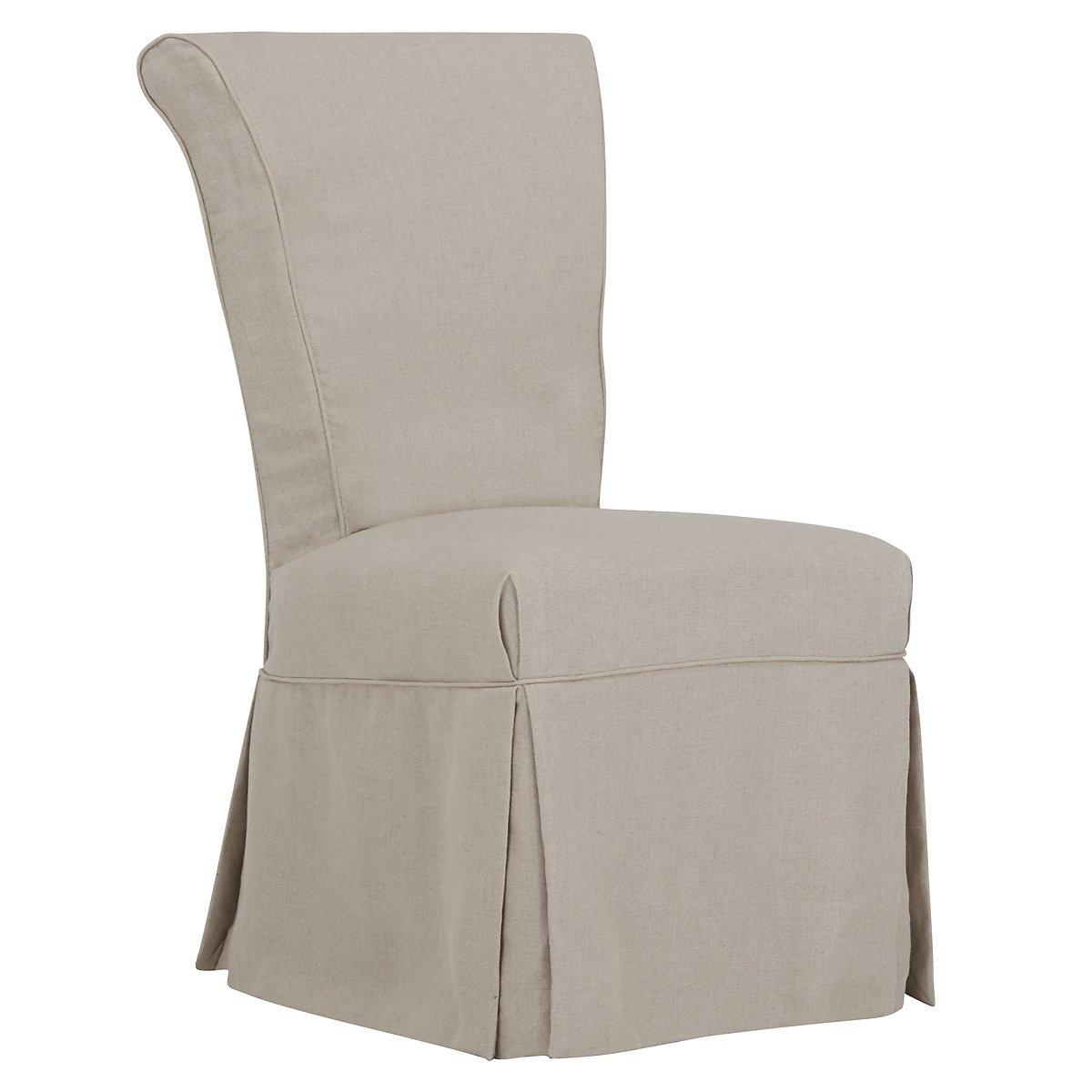 Haddie Beige Skirted Side Chair