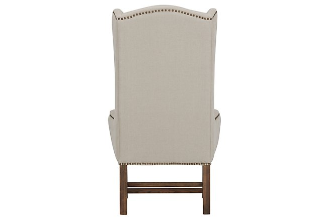 Haddie Beige Fabric Upholstered Arm Chair