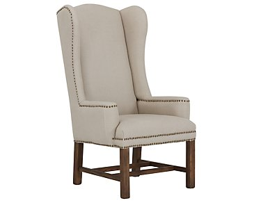 Haddie Beige Upholstered Arm Chair