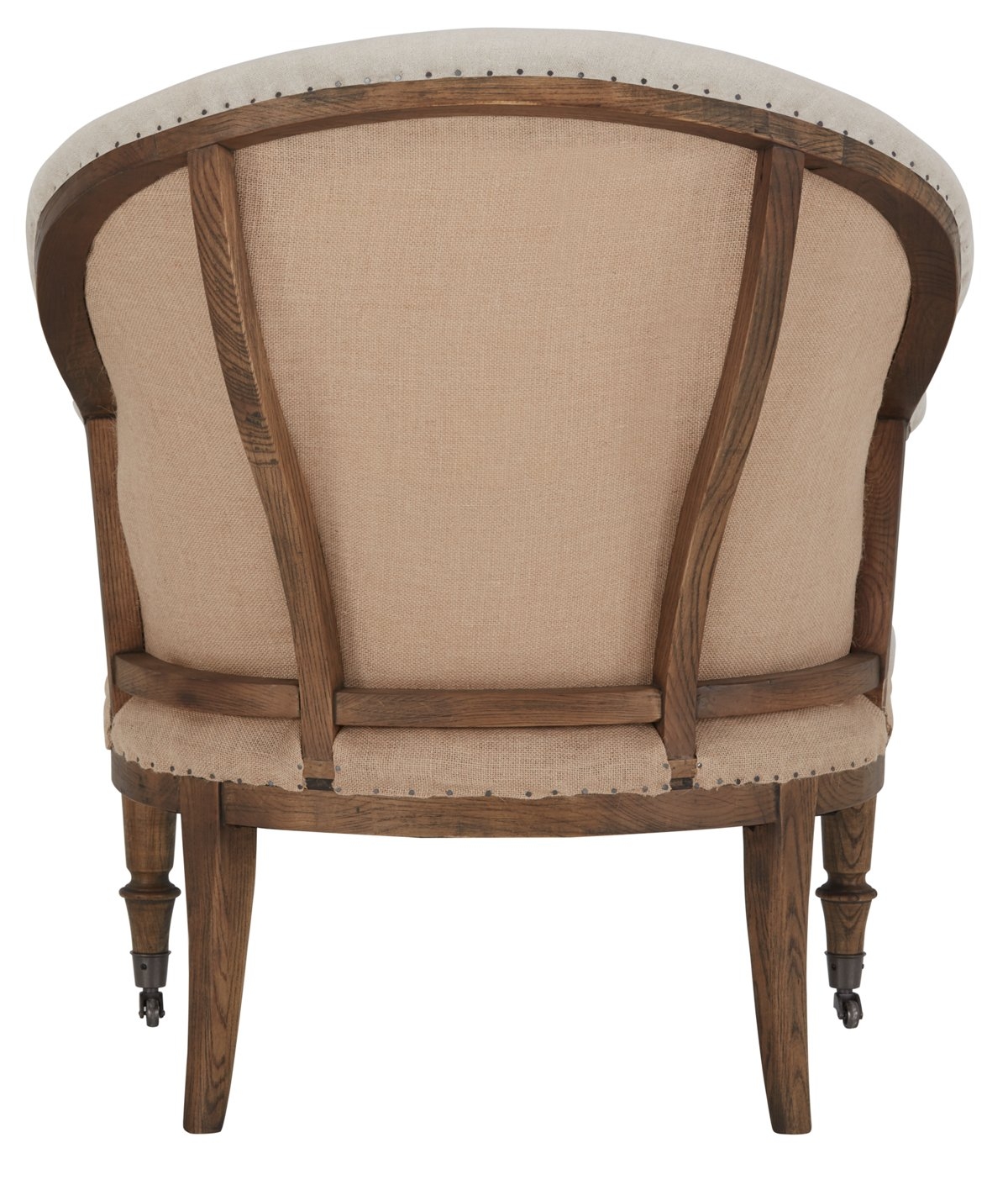 Jane Beige Fabric Upholstered Arm Chair