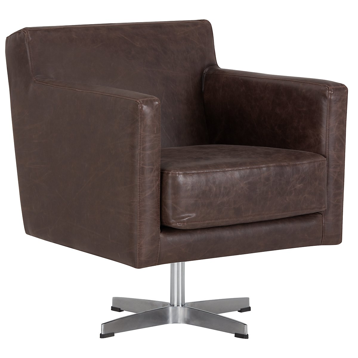Nora Brown Swivel Chair