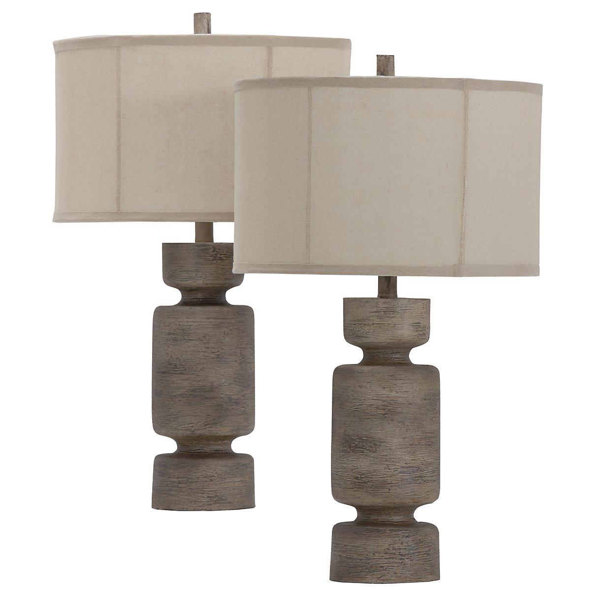 Briggs Beige Set Of 2 Table Lamp