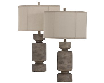 Briggs Beige Set Of 2 Table Lamp