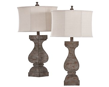Eloise Light Gray Set Of 2 Table Lamp