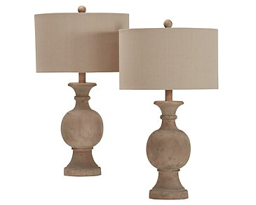 Ellis Taupe Set Of 2 Table Lamp