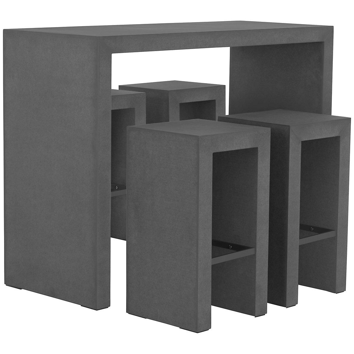 Sydney Concrete Concrete High Table & 4 Barstools