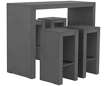 Sydney Concrete High Table & 4 Barstools