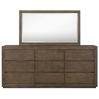 Rylan Light Tone Large Dresser & Mirror