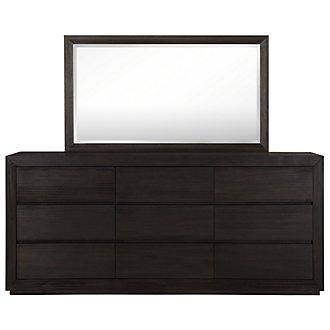 Rylan Dark Tone Large Dresser & Mirror