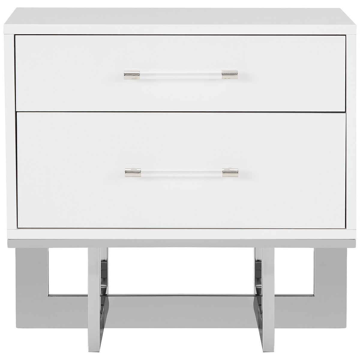 city furniture cortina white nightstand - cortina white nightstand