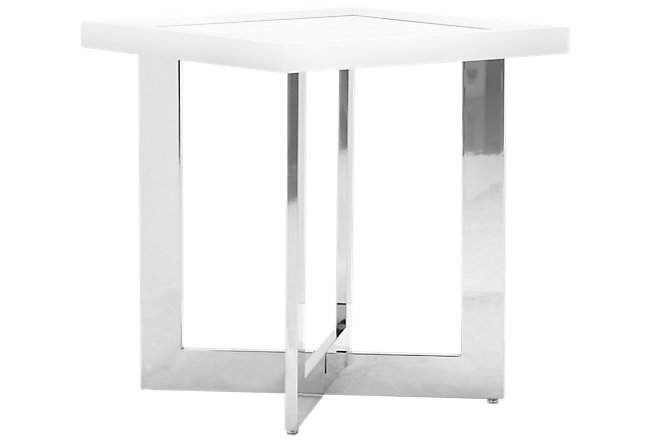 Cortina White End Table