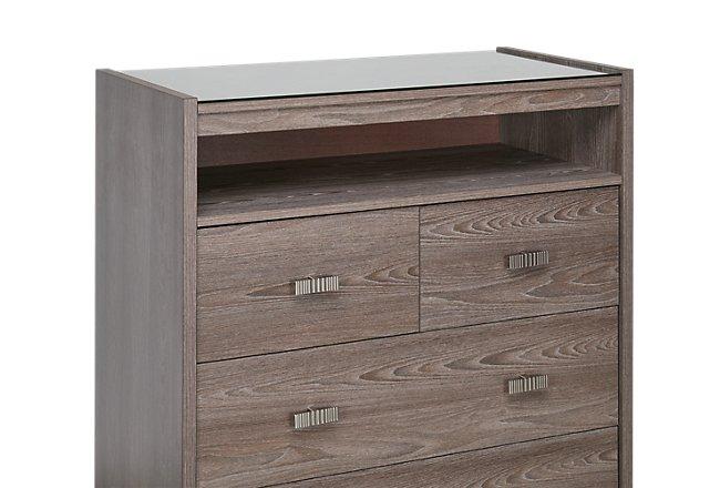 Sutton Light Tone Wood Drawer Chest