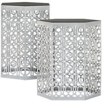 Harley Silver Set Of 2 Accent Table