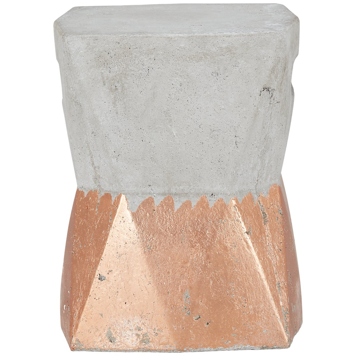 Camden Gold Cement Accent Stool