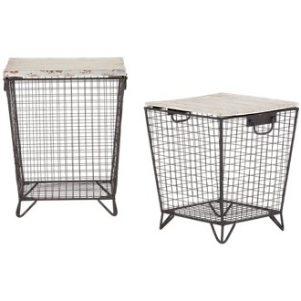 Cage Set Of 2 Metal Accent Table