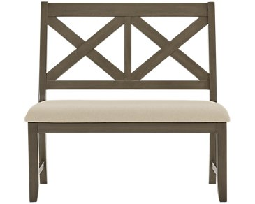 Omaha Gray Dining Bench