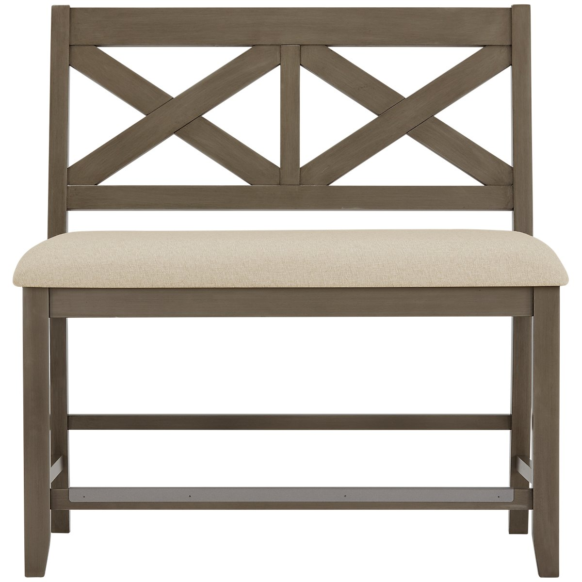 "Omaha Gray 24"" High Dining Bench"