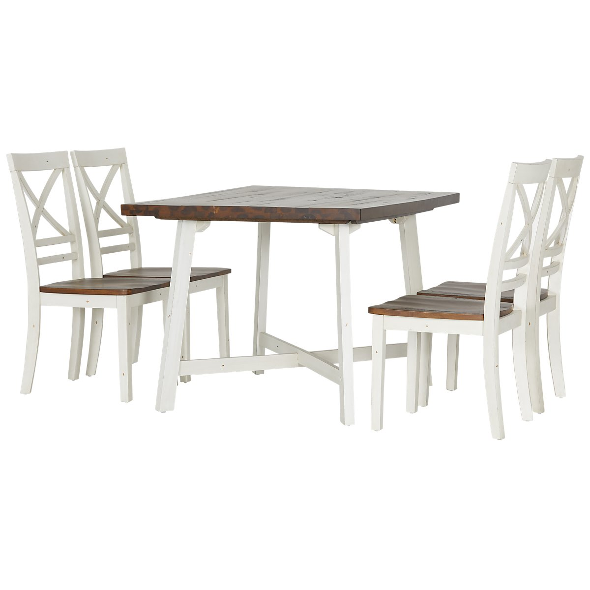 City Furniture Amelia TwoTone Rectangular Table Chairs - Rectangle table with 4 chairs
