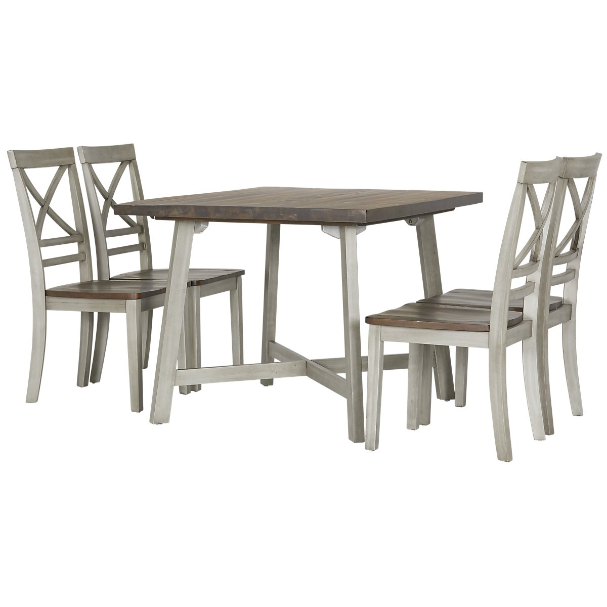 0e76b15b5479 Fairhaven Gray Wood Table & 4 Chairs   Dining Room - Dining Sets   City  Furniture