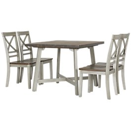 Fairhaven Gray Wood Table 4 Chairs