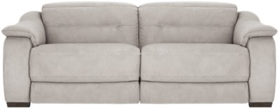 Kent Light Gray Microfiber Power Reclining Sofa