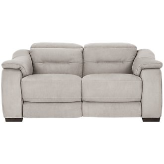 Kent Light Gray Microfiber Power Reclining Loveseat