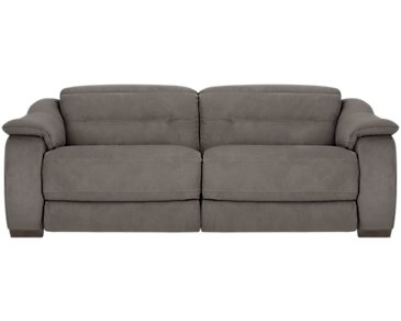 Kent Dark Gray Microfiber Power Reclining Sofa